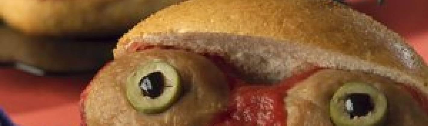 Ricetta panini con gli occhi per halloween
