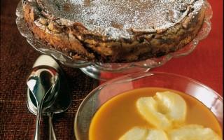 Ricetta torta al cioccolato con salsa al caramello