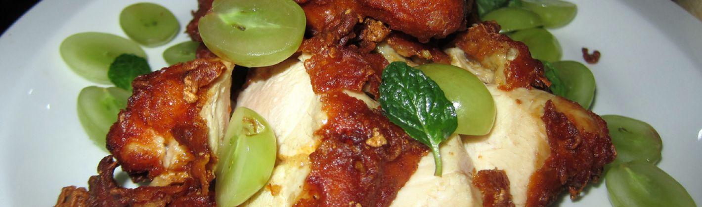 Ricetta pollo con uva al marsala