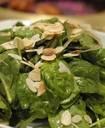 Ricetta spinaci con mandorle