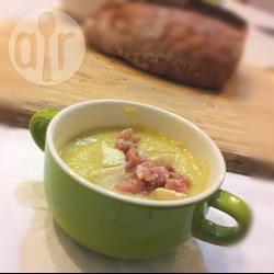 Vellutata di zucca con gorgonzola e pancetta