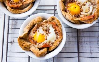 Ricetta cestini uova e pancetta