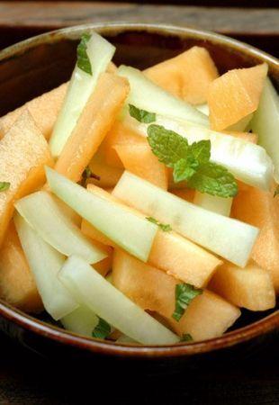 Ricetta insalata di melone e cetriolo