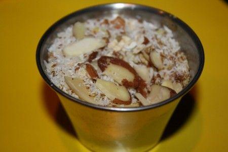 Ricetta dessert di fiocchi di miglio e yogurt