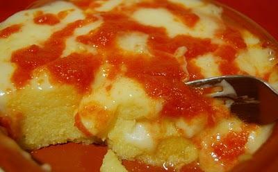 Polenta ai pomodori con pecorino
