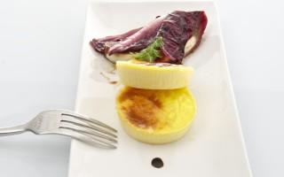 Ricetta flan di caprino con radicchio marinato al balsamico ...