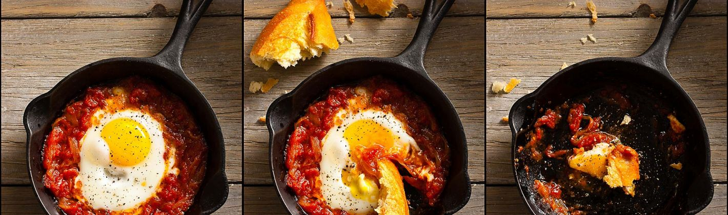 Ricetta uova al pomodoro e basilico