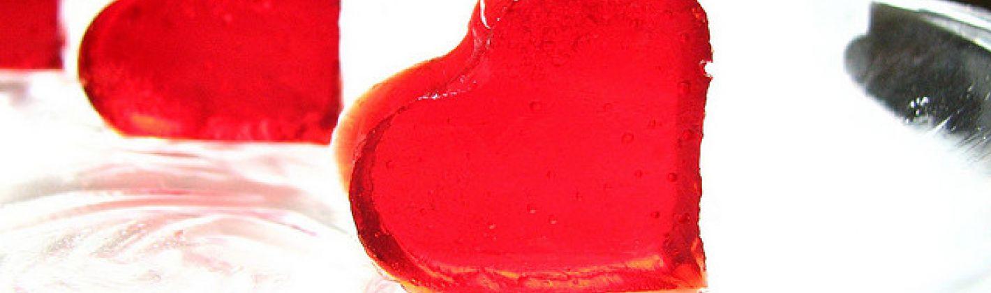 Ricetta gelatine a forma di cuore