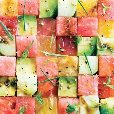 Ricetta insalata di pomodori e melone