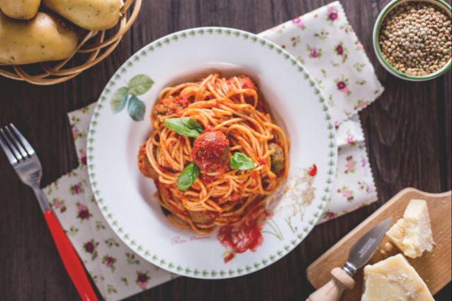 Ricetta spaghetti con le polpettine vegetariane