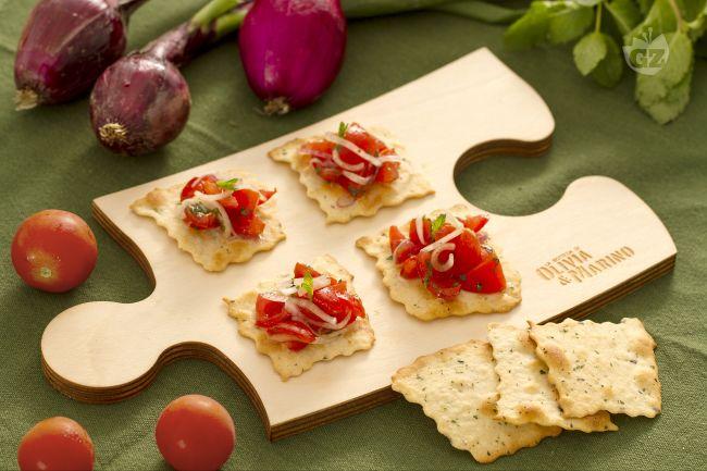 Ricetta sfoglie alle olive con cipolle e pomodorini
