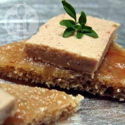 Tartine al foie gras e composta di fichi