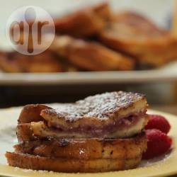 French toast ai lamponi