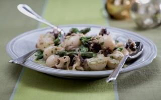 Ricetta insalata tiepida di punte di asparagi e seppioline