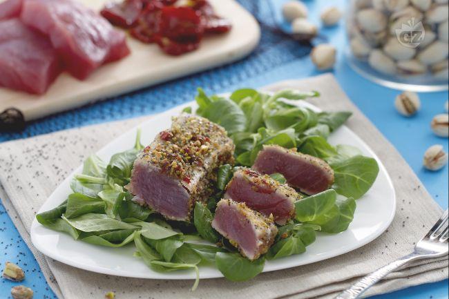 Ricetta tonno in crosta di pistacchi