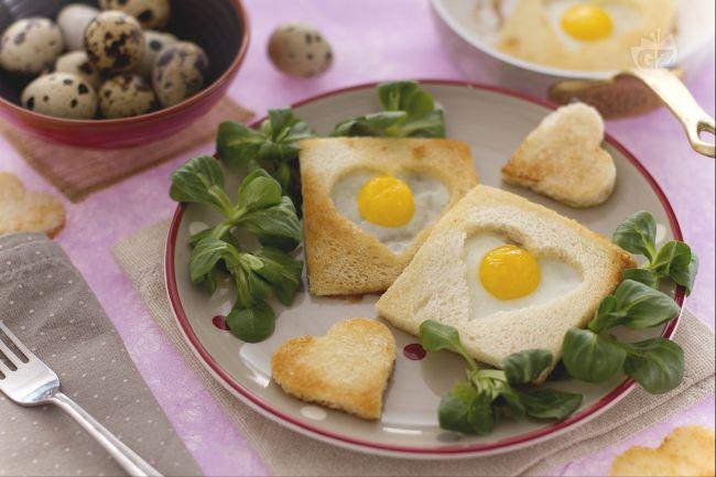 Ricetta uova di quaglia in cuore di pane