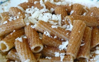 Ricetta rigatoni integrali, olio, bottarga e formaggio di fossa ...
