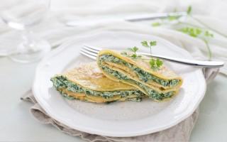 Ricetta crepes di ricotta e spinaci