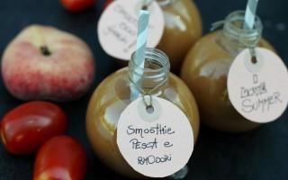 Ricetta smoothie di pesche grigliate e pomodori
