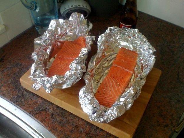 Ricetta salmone in cartoccio ai funghi