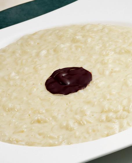 Riso gran riserva con acciughe, limone e cacao al peperoncino
