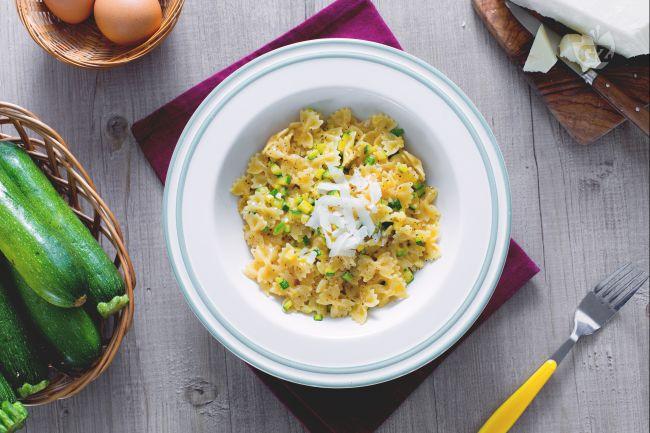 Ricetta pasta alla carbonara di zucchine