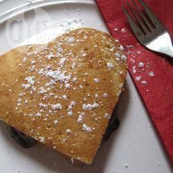 Tramezzini di pancake al cioccolato per san valentino