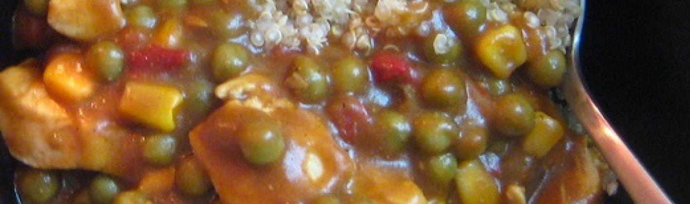 Ricetta tacchino al curry con quinoa