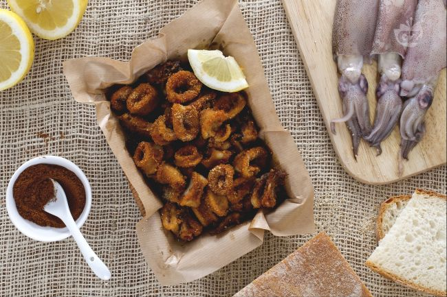 Ricetta anelli di calamari al forno