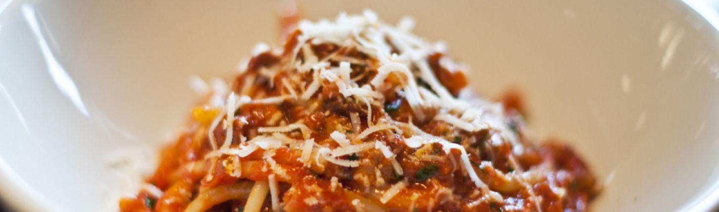 Ricetta pasta all'amatriciana con pancetta