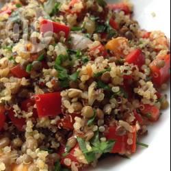 Insalata di quinoa e lenticchie