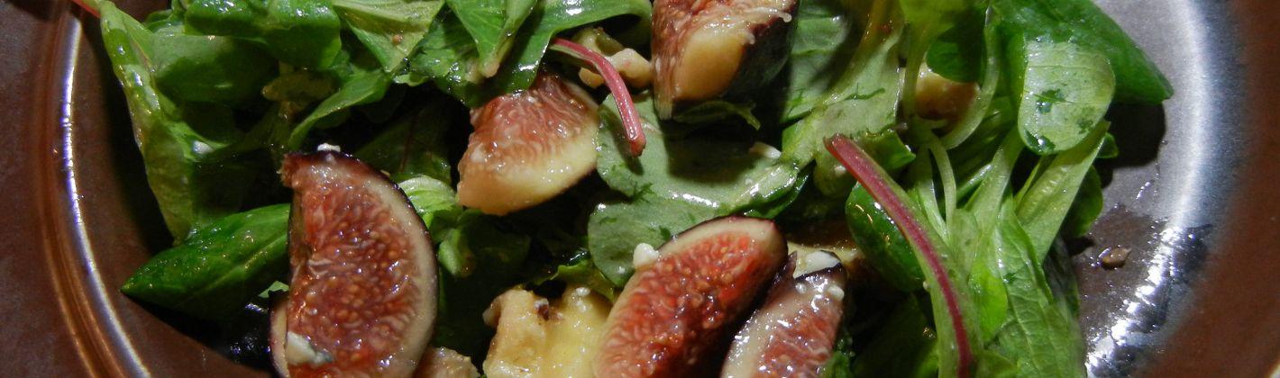 Ricetta insalata di fichi e songino