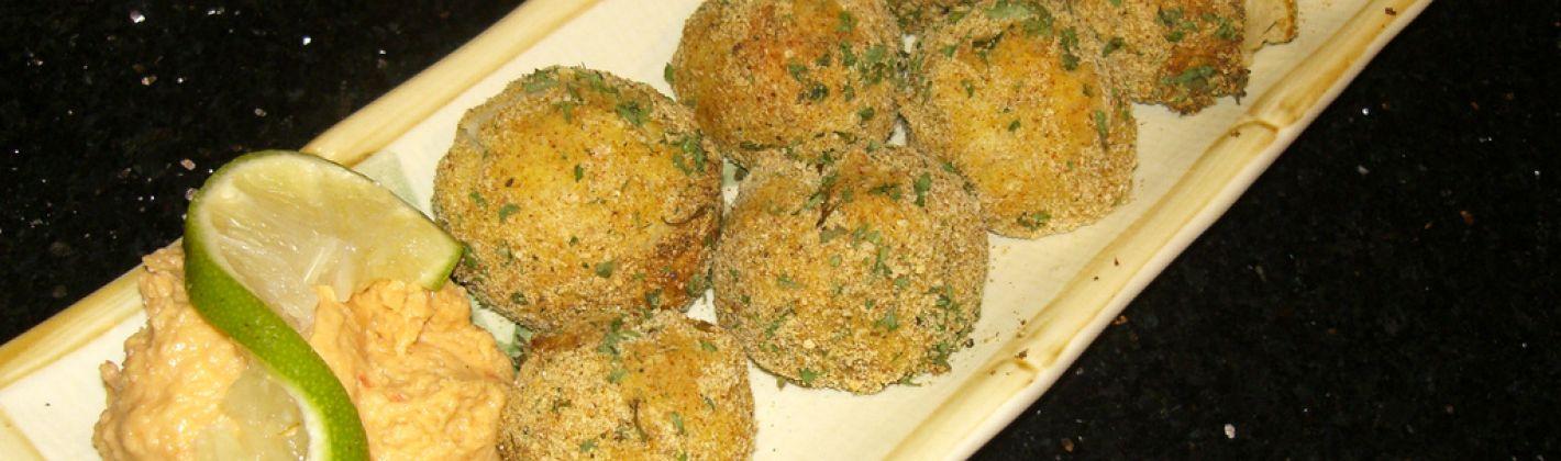 Ricetta palline di purè con funghi ed erbe aromatiche