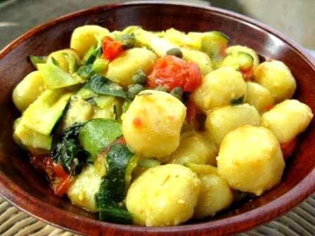 Ricetta gnocchetti con verdure