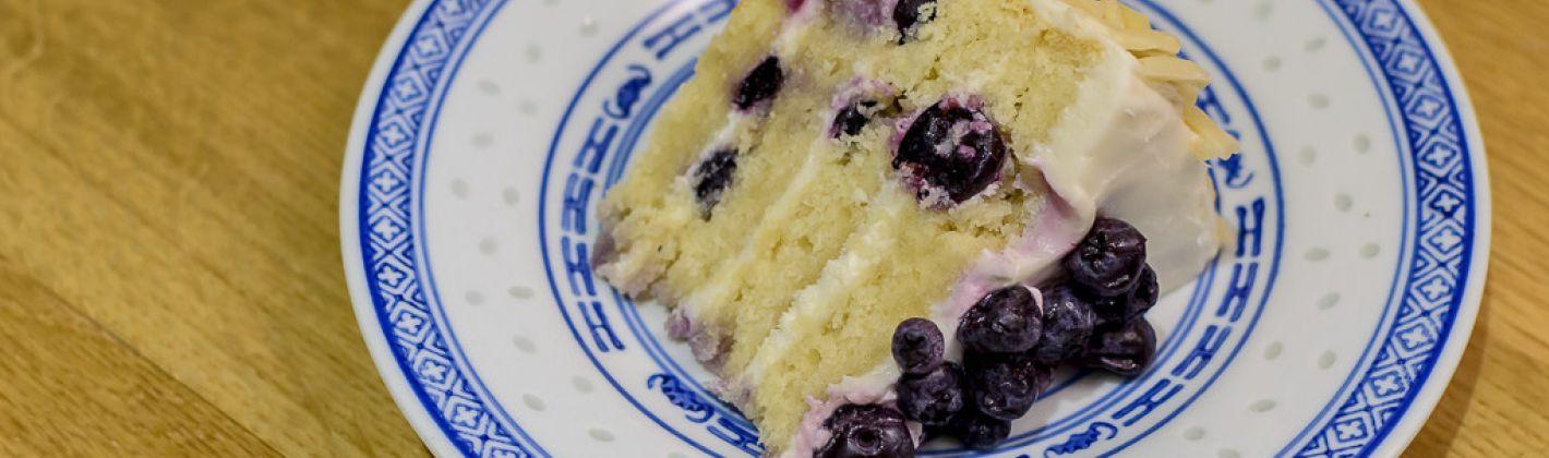 Ricetta torta gelato con mirtilli