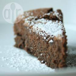 Torta al cioccolato proteica senza glutine