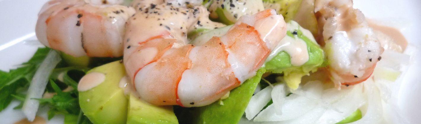 Ricetta insalata con gamberetti e avocado in coppetta