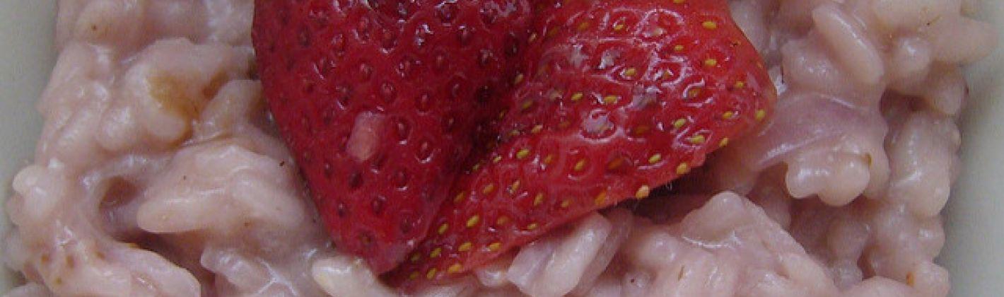Ricetta risotto alle fragole con carciofi e crescione