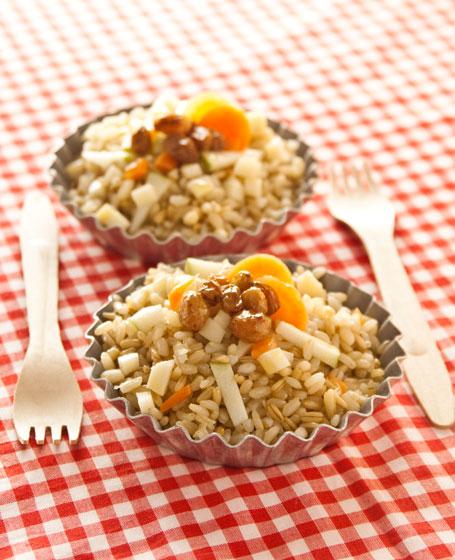 Insalata di riso, mela e scamorza