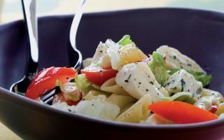 Ricetta insalata di penne fredde ai formaggi