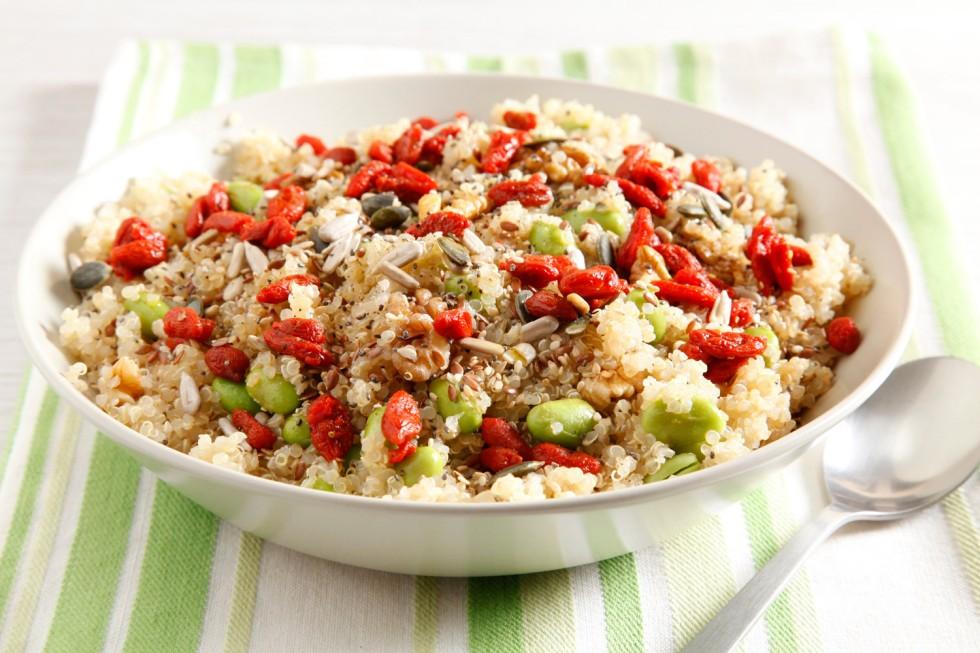 Ricetta insalata di edamame e quinoa