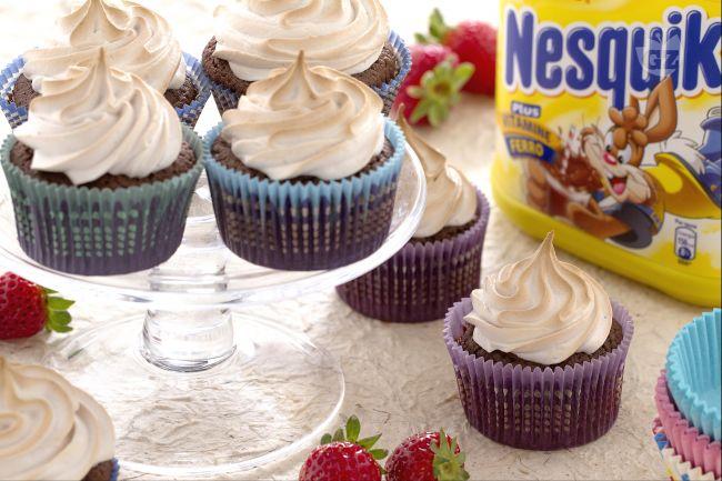 Ricetta cupcake fiamma al nesquik