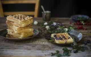 Ricetta waffle alla ricotta e mirtilli