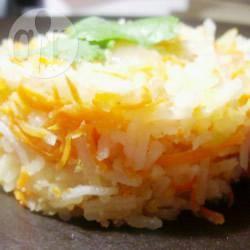 Riso saltato con carote e zenzero