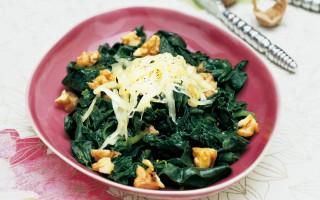 Ricetta spinaci alle noci