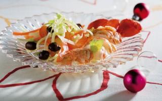Ricetta insalata d'astice al succo di pompelmo rosa