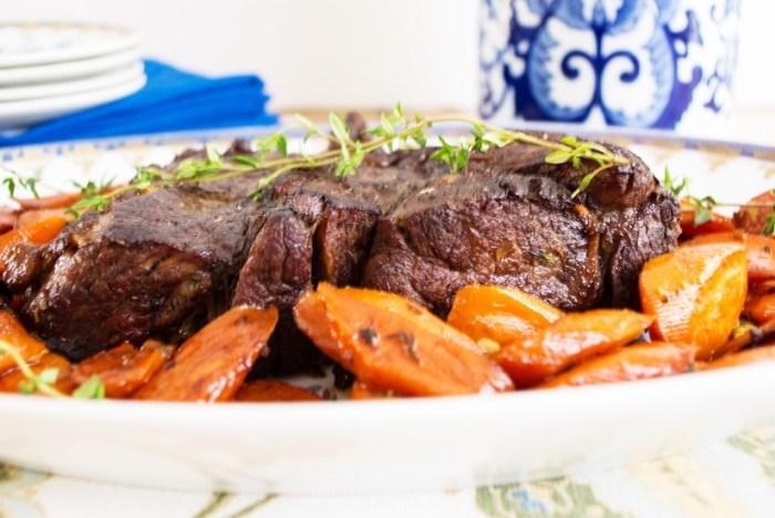 Ricetta manzo arrosto con carote