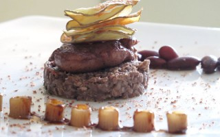 Ricetta ditalini con quaglia, patate, fagioli rossi e cioccolato ...