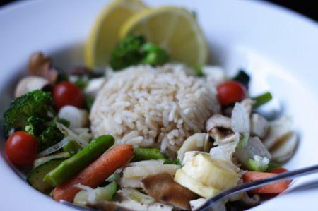 Ricetta insalata di riso integrale con verdure