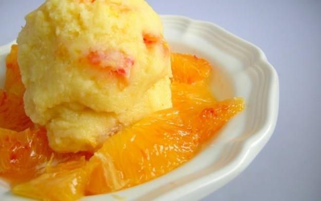 Ricetta gelato all'arancia con scorzette
